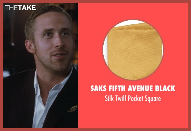 Saks Fifth Avenue BLACK square from Crazy, Stupid, Love. seen with Ryan Gosling (Jacob Palmer)