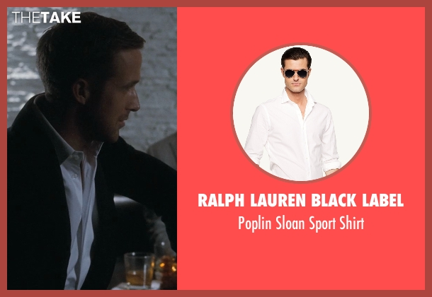 Ralph Lauren Black Label white shirt from Crazy, Stupid, Love. seen with Ryan Gosling (Jacob Palmer)