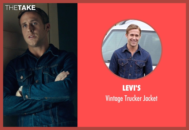 Levi's blue jacket from Drive seen with Ryan Gosling (Driver)