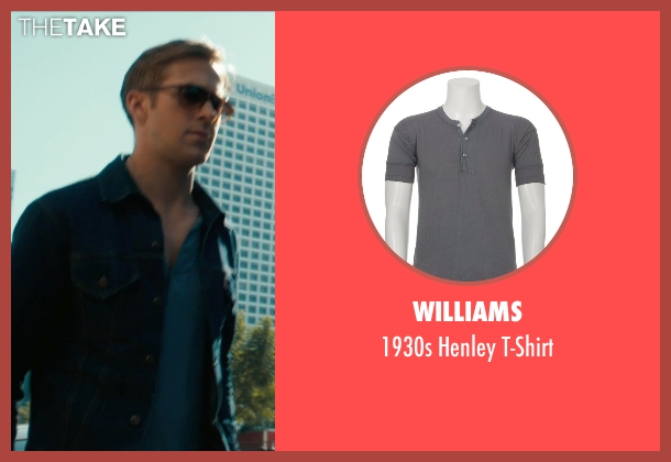 Williams blue t-shirt from Drive seen with Ryan Gosling (Driver)