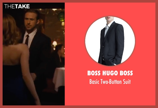 Boss Hugo Boss black suit from La La Land seen with Ryan Gosling (Sebastian)