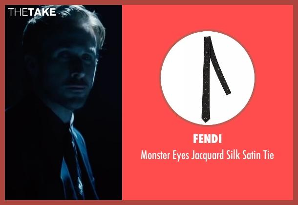 Fendi black tie from La La Land seen with Ryan Gosling (Sebastian)
