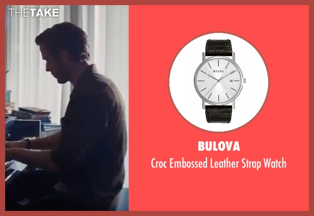 Bulova black watch from La La Land seen with Ryan Gosling (Sebastian)