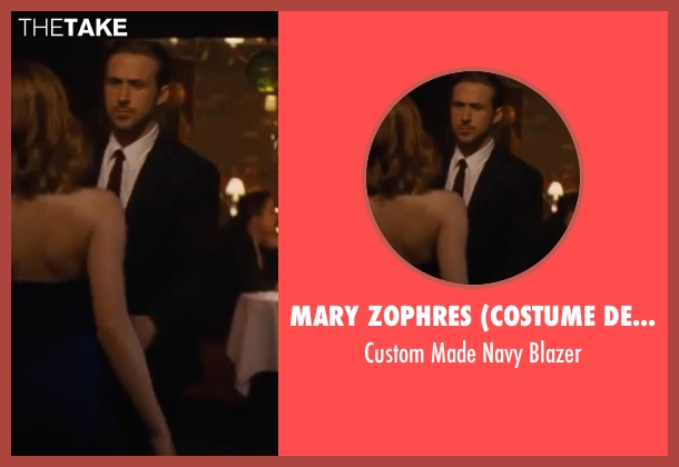 Mary Zophres (Costume Designer) blue blazer from La La Land seen with Ryan Gosling (Sebastian)