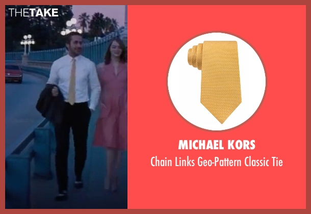 Michael Kors yellow tie from La La Land seen with Ryan Gosling (Sebastian)