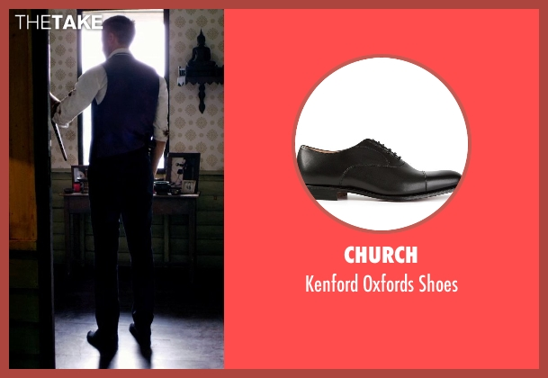 Church black shoes from Only God Forgives seen with Ryan Gosling (Julian)