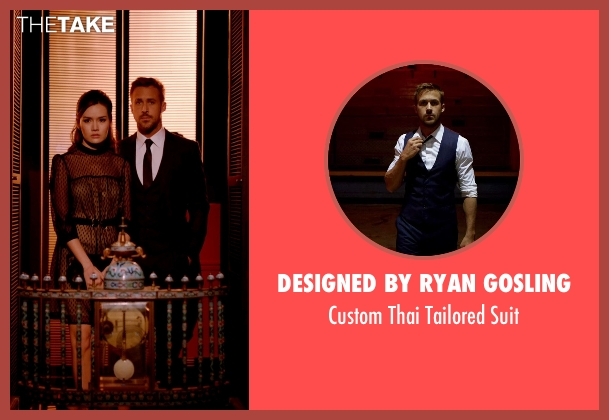 Designed by Ryan Gosling blue suit from Only God Forgives seen with Ryan Gosling (Julian)