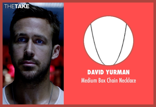 David Yurman silver necklace from Only God Forgives seen with Ryan Gosling (Julian)