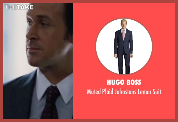 Hugo Boss blue suit from The Big Short seen with Ryan Gosling (Jared Vennett)