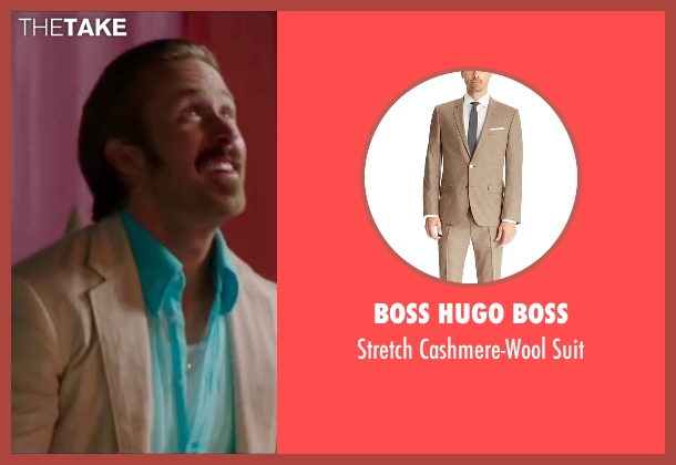 Boss Hugo Boss beige suit from The Nice Guys seen with Ryan Gosling (Holland March)