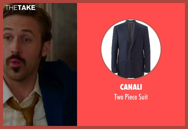 Canali blue suit from The Nice Guys seen with Ryan Gosling (Holland March)