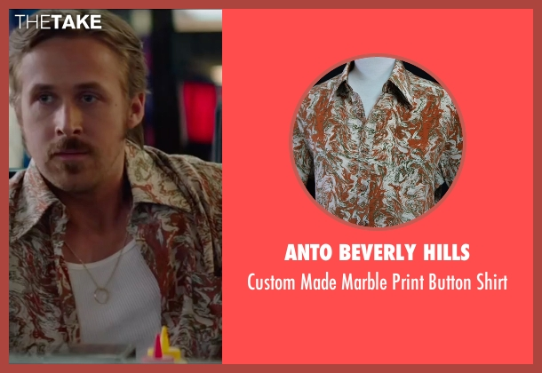 Anto Beverly Hills brown shirt from The Nice Guys seen with Ryan Gosling (Holland March)
