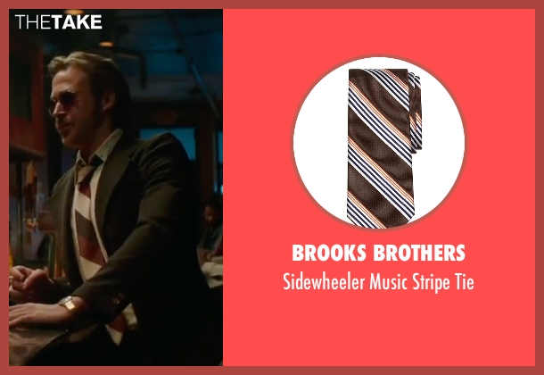 Brooks Brothers brown tie from The Nice Guys seen with Ryan Gosling (Holland March)