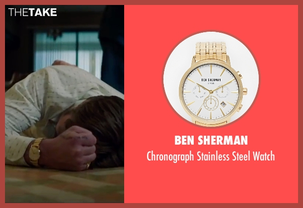 Ben Sherman gold watch from The Nice Guys seen with Ryan Gosling (Holland March)