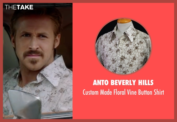 Anto Beverly Hills white shirt from The Nice Guys seen with Ryan Gosling (Holland March)