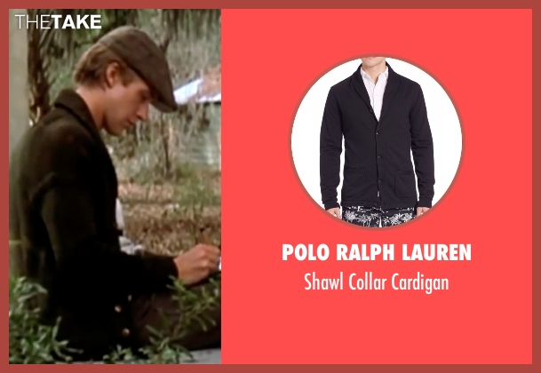 Polo Ralph Lauren black cardigan from The Notebook seen with Ryan Gosling (Noah)