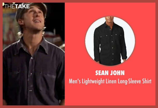 Sean John black shirt from The Notebook seen with Ryan Gosling (Noah)