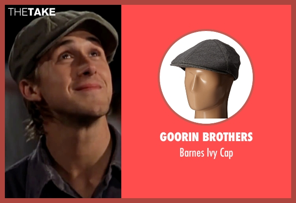 Goorin Brothers gray cap from The Notebook seen with Ryan Gosling (Noah)