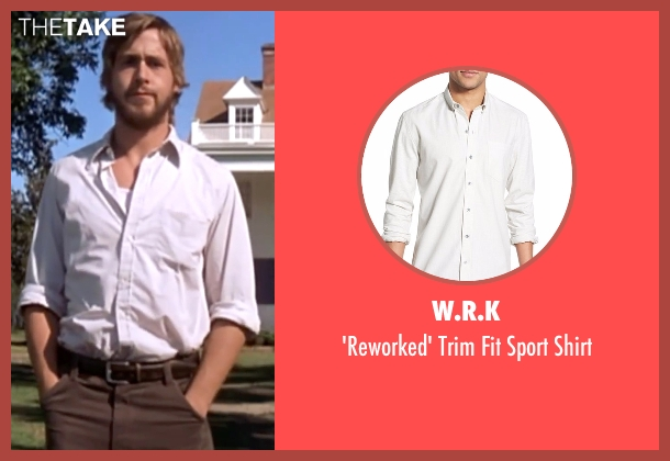 W.R.K white shirt from The Notebook seen with Ryan Gosling (Noah)