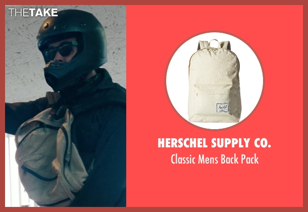 Herschel Supply Co. beige pack from The Place Beyond The Pines seen with Ryan Gosling (Luke)