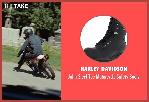 Harley Davidson black boots from The Place Beyond The Pines seen with Ryan Gosling (Luke)