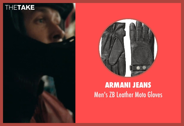 Armani Jeans black gloves from The Place Beyond The Pines seen with Ryan Gosling (Luke)