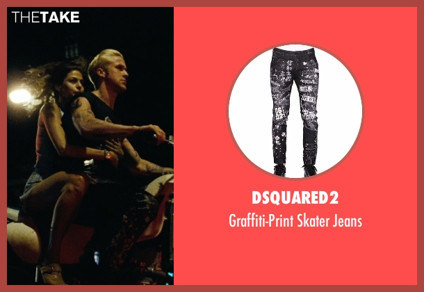 Dsquared2 black jeans from The Place Beyond The Pines seen with Ryan Gosling (Luke)