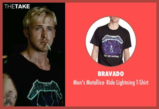 Bravado black t-shirt from The Place Beyond The Pines seen with Ryan Gosling (Luke)