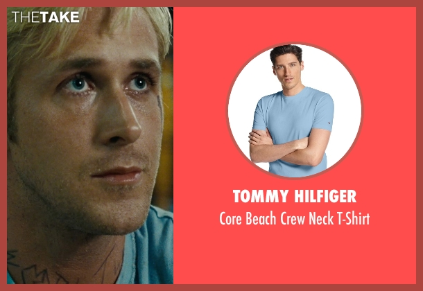Tommy Hilfiger blue t-shirt from The Place Beyond The Pines seen with Ryan Gosling (Luke)
