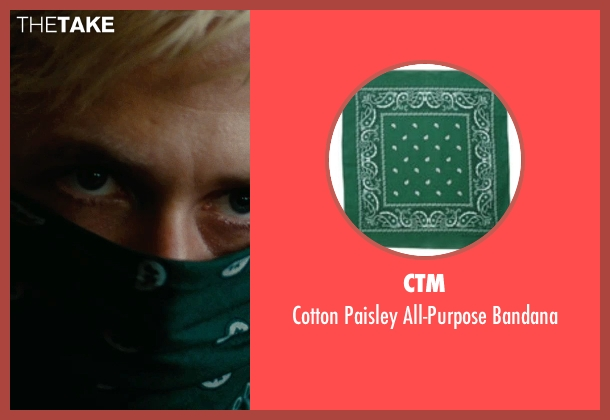 CTM green bandana from The Place Beyond The Pines seen with Ryan Gosling (Luke)