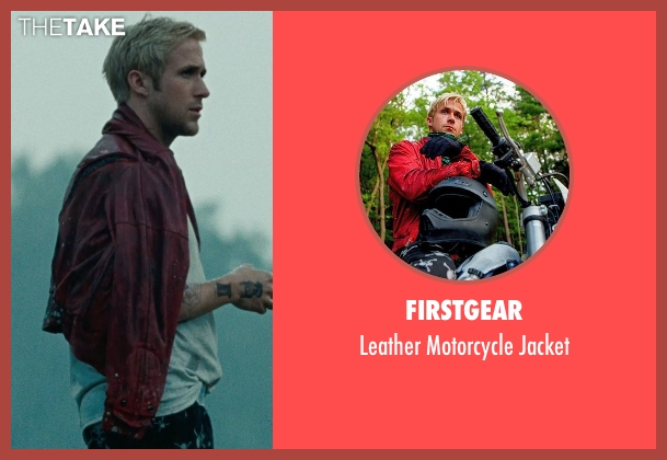 Firstgear red jacket from The Place Beyond The Pines seen with Ryan Gosling (Luke)