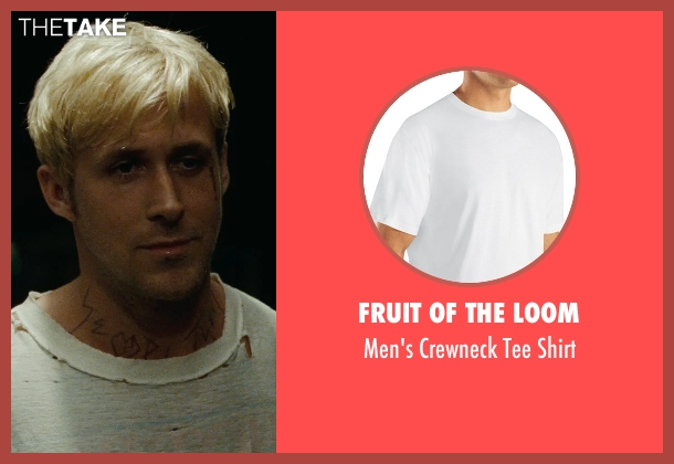 Fruit of the Loom white shirt from The Place Beyond The Pines seen with Ryan Gosling (Luke)
