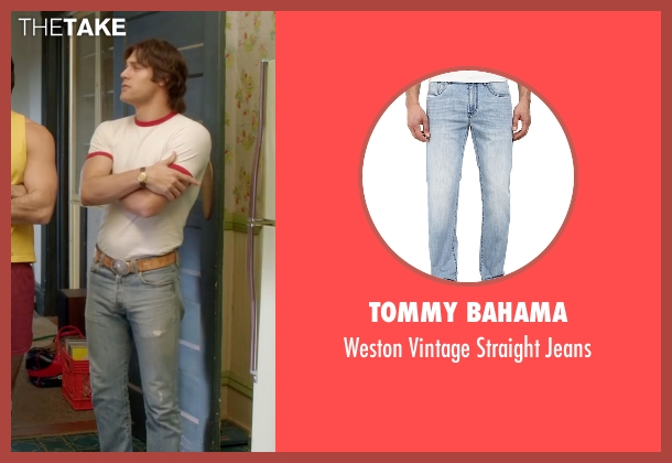 Tommy Bahama blue jeans from Everybody Wants Some seen with Ryan Guzman (Roper)