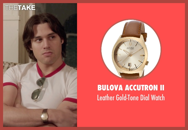 Bulova Accutron II brown watch from Everybody Wants Some seen with Ryan Guzman (Roper)