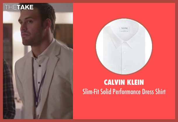 Calvin Klein white shirt from Jem and the Holograms seen with Ryan Guzman (Rio Pacheco)