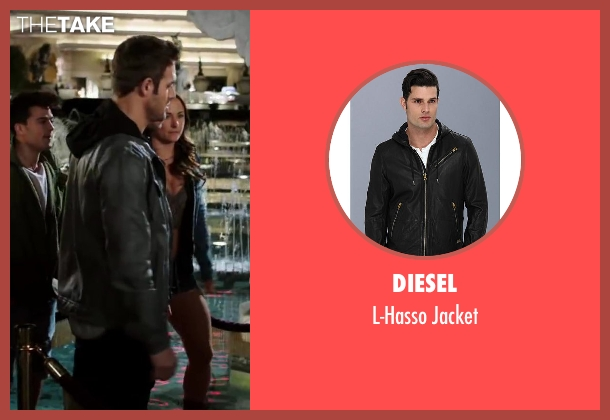 Diesel black jacket from Step Up: All In seen with Ryan Guzman (Sean)
