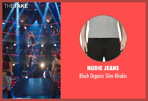 Nudie Jeans black khakis from Step Up: All In seen with Ryan Guzman (Sean)