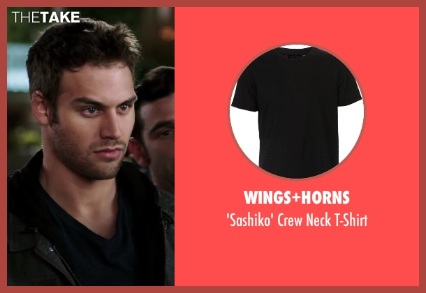 Wings+Horns black t-shirt from Step Up: All In seen with Ryan Guzman (Sean)