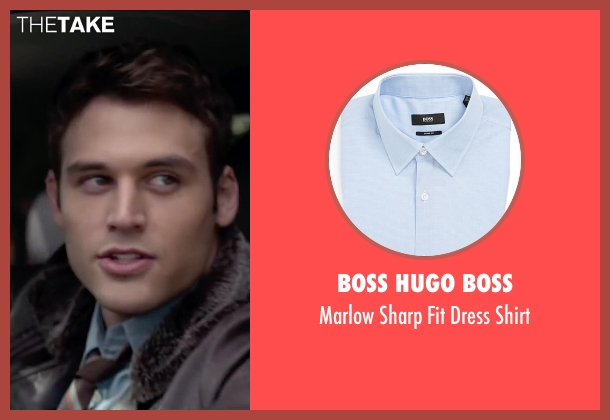 Boss Hugo Boss blue shirt from The Boy Next Door seen with Ryan Guzman (Noah Sandborn)