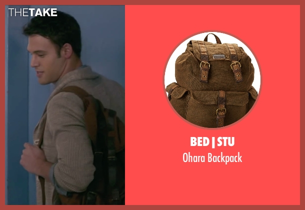 Bed|Stu brown backpack from The Boy Next Door seen with Ryan Guzman (Noah Sandborn)