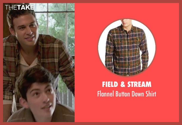 Field & Stream brown shirt from The Boy Next Door seen with Ryan Guzman (Noah Sandborn)