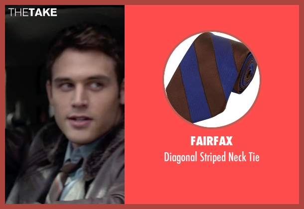 Fairfax brown tie from The Boy Next Door seen with Ryan Guzman (Noah Sandborn)