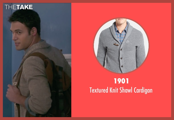 1901 gray cardigan from The Boy Next Door seen with Ryan Guzman (Noah Sandborn)