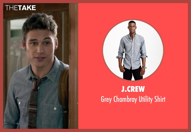 J.Crew gray shirt from The Boy Next Door seen with Ryan Guzman (Noah Sandborn)