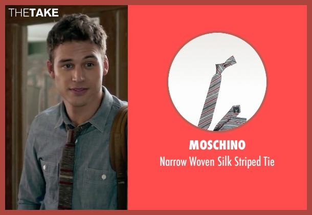 Moschino gray tie from The Boy Next Door seen with Ryan Guzman (Noah Sandborn)