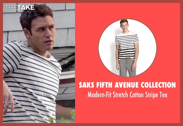 Saks Fifth Avenue Collection white tee from The Boy Next Door seen with Ryan Guzman (Noah Sandborn)