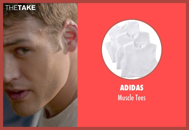 Adidas white tees from The Boy Next Door seen with Ryan Guzman (Noah Sandborn)