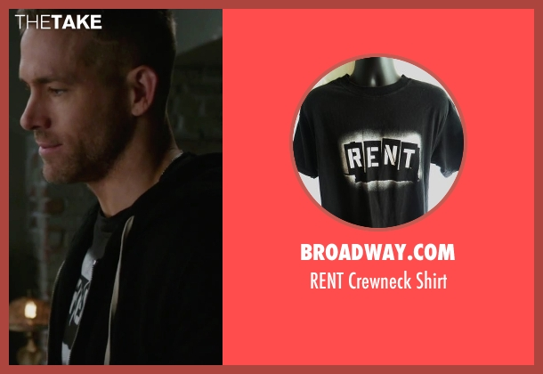 Broadway.com black shirt from Deadpool seen with Ryan Reynolds (Wade Wilson / Deadpool)
