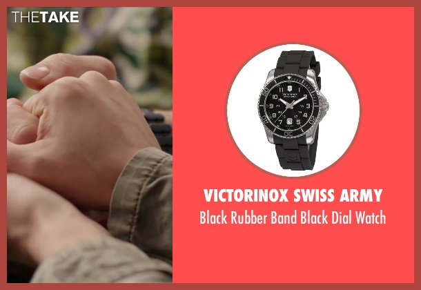 Victorinox Swiss Army black watch from Deadpool seen with Ryan Reynolds (Wade Wilson / Deadpool)