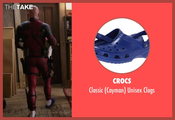 Crocs blue clogs from Deadpool seen with Ryan Reynolds (Wade Wilson / Deadpool)